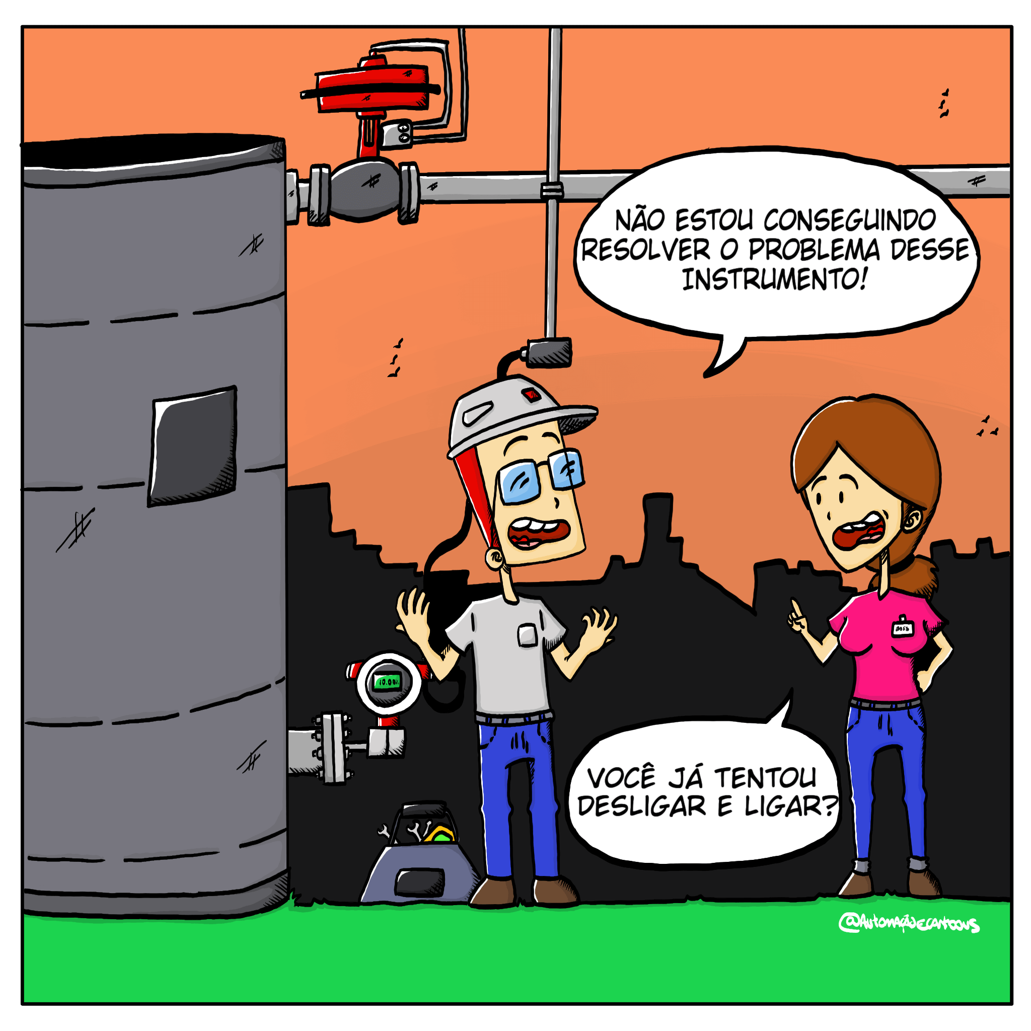 tecnico-em-manutencao-sensor-de-nivel
