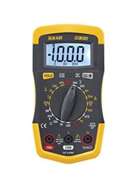 Multímetro Digital com Medição de Temperatura HM-2010 Hikari